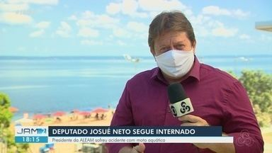 Presidente da Assembleia Legislativa do AM, Josué Neto sofre acidente com moto aquática - Josué Neto foi hospitalizado com traumatismo na perna direita.