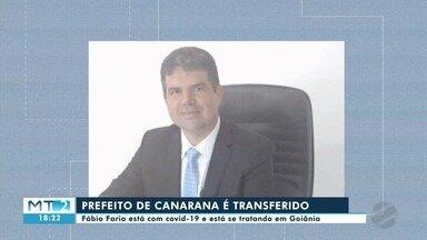Prefeito de Canarana, infectado pela Covid-19, é transferido para Goiânia - Prefeito de Canarana, infectado pela Covid-19, é transferido para Goiânia.