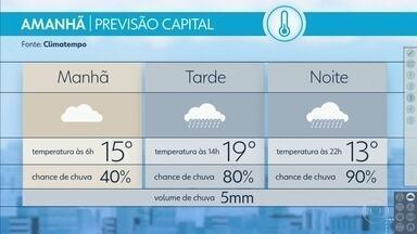Quarta-feira terá virada no tempo na Grande São Paulo - Além da chuva, frio; queda na temperatura máxima pode chegar a 11 graus em relação à tarde dessa terça-feira.