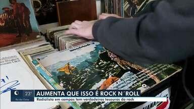 Radialista de Campos tem verdadeiros tesouros do rock em discos de vinil - Julho é considerado o mês do Rock.