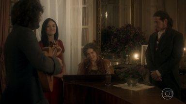 Anna desce com Leopoldina e conta que farão um sarau - Joaquim começa a apresentação