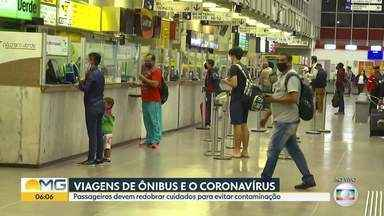 Rodoviária tem protocolos de segurança contra Covid-19 - Passageiros devem redobrar cuidados para evitar infecção.