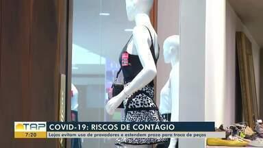 Lojistas e consumidores se adaptam em meio à proibição dos provadores - Medida consta em decreto municipal de Santarém como medida de enfrentamento à Covid-19.