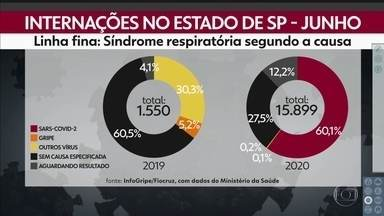 SP registra queda nas doenças de outono e inverno - Vírus causadores de alguma forma de síndrome respiratória respondiam por 35% das internações. Desde o início da pandemia, este número caiu para 0,3%.