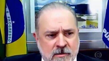 """Procurador-geral da República volta a criticar a atuação das forças-tarefa da Lava Jato - Augusto Aras disse que é preciso corrigir rumos para que não perdure o que chamou de """"lavajatismo"""" e falou que a corregedoria do MP vai investigar ao menos 50 mil documentos da Lava Jato que estavam, segundo ele, """"invisíveis""""."""