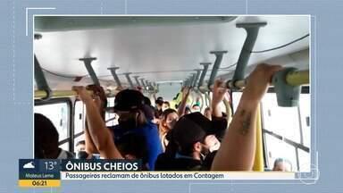 Bom Dia Minas acompanha embarque em Contagem - Passageiros reclamam que ônibus ficam lotados durante o percurso.
