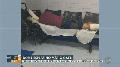 Pacientes denunciam espera por cirurgias e atendimento no Mario Gatti em Campinas - Em nota, a Rede Mario Gatti afirma que está priorizando os atendimentos da Covid-19 e a retomada dos procedimentos eletivos depende da situação da pandemia.