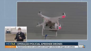 Operação policial apreende drones - Equipamentos eram usados para entregar celulares e drogas em cadeias