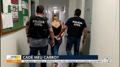 Duas mulheres são presas suspeitas de aplicar golpes em vendas pela internet, em Goiânia - Suspeitas recebiam, mas não entregavam carro a comprador.