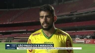 São Paulo é eliminado pelo Mirassol no Morumbi e dá adeus ao Paulistão - Time de Fernando Diniz finaliza mais, mas fica fora das semifinais do campeonato estadual