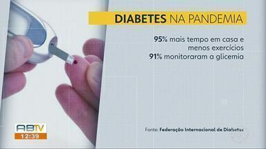 Pesquisa revela que 95% dos brasileiros com diabetes reduziram a atividade física - Diabéticos fazem parte do grupo de risco da Covid-19, e não devem descuidar dos cuidados com a saúde.