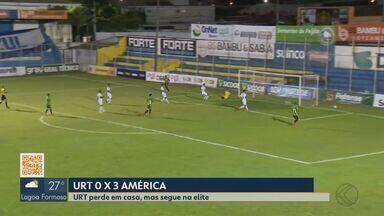 URT perde para América-MG em casa e está eliminado no Mineiro - Trovão foi superado por 3 a 0, ficou fora do Troféu Inconfidência e não conseguiu vaga na Série D do Brasileiro.