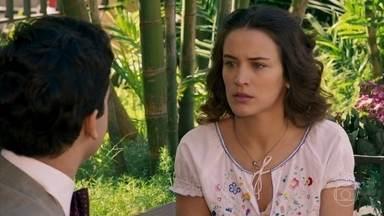 Maria afirma a Celso que ele terá de provar que não faz parte do golpe de Sandra - Celso garante que não fez parte dos planos da irmã