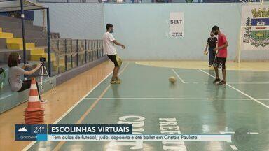 Escolas municipais de Cristais Paulista têm aulas virtuais para matar saudade do esporte - Futebol, balé, judô e capoeira estão entre as opções para os alunos que estão em casa.
