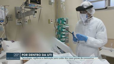 Internado no HC de Ribeirão Preto, aposentado é cuidado por equipe entrosada na UTI - Série 'Cuidado Intensivo' aborda tecnologia, vigilância e dedicação para cuidar dos casos graves de coronavírus.