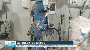 Hospitais de Campo Grande buscam remanejamento para vagas em UTI - Hospitais de Campo Grande buscam remanejamento para vagas em UTI