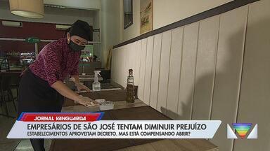 Bares e restaurantes de São José aproveitam autorização para voltar a funcionar - Cidade se promoveu à fase amarela sem o aval do Governo de São Paulo