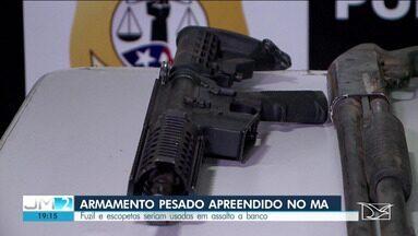 Armamento pesado é apreendido pela polícia no Maranhão - Entre as armas, está um fuzil alemão.