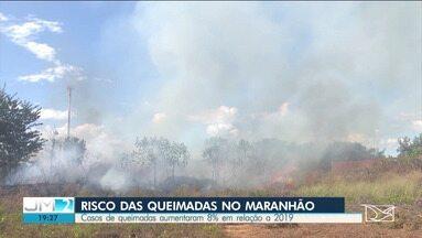 Maranhão é o quarto estado com maior número de focos de queimadas no país - Corpo de bombeiros alerta que os incêndios devem aumentar ainda mais a partir de agora, por causa do tempo seco.
