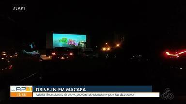 Assistir filmes de dentro de carro é alternativa para os fãs de cinema em Macapá - Assistir filmes de dentro de carro é alternativa para os fãs de cinema em Macapá