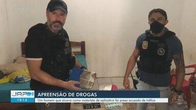 Polícia prende homem que atuava como motorista para grupo que traficava drogas em Macapá - Polícia prende homem que atuava como motorista para grupo que traficava drogas em Macapá