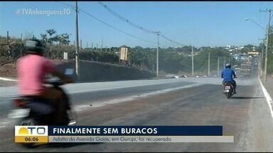 Obras na Av. Goiás em Gurupi foram finalizadas e agora as ruas não possuem mais buracos - Obras na Av. Goiás em Gurupi foram finalizadas e agora as ruas não possuem mais buracos