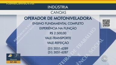 Indústria tem vaga para operador de motoniveladora em Canoas - Acesse o g1.com.br/rs e veja os detalhes.