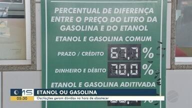 Oscilações nos preços dos combustíveis geram dúvidas na hora de abastecer - Oscilações nos preços dos combustíveis geram dúvidas na hora de abastecer