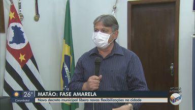 Novo decreto municipal libera flexibilização em Matão - Município está na fase amarela do Plano São Paulo.