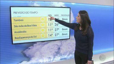 Veja como fica o tempo nesta sexta-feira na região - O tempo segue firme com as temperaturas mais baixas.