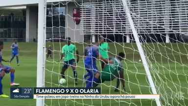 Flamengo goleia o Olaria por 9 a 0 em jogo-treino - Flamengo goleia o Olaria por 9 a 0 em jogo-treino