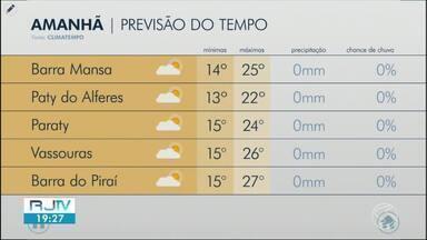 Meteorologia prevê sol entre nuvens neste sábado no Sul do Rio - Temperaturas seguem baixas e não há probabilidade de chuva.