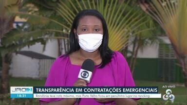 Rondônia atinge nota máxima no ranking da transparência em contratações emergenciais - Dados foram divulgados pela Transparência Internacional