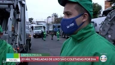 Coletores de lixo mantém São Paulo limpa - 20 mil toneladas de lixo são coletadas por dia