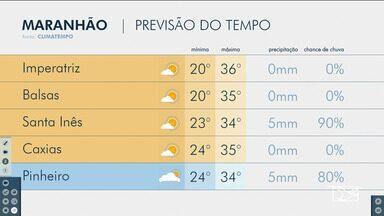 Veja as variações das temperaturas no Maranhão - Confira a previsão do tempo nesta segunda-feira (3) em São Luís e também no interior do estado.