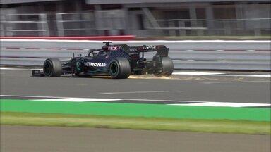 Hamilton cruza a linha de chegada com o pneu furado e vence o GP da Inglaterra - Hamilton cruza a linha de chegada com o pneu furado e vence o GP da Inglaterra