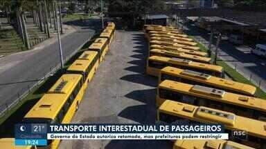 Governo de SC autoriza retomada do transporte interestadual - Governo de SC autoriza retomada do transporte interestadual