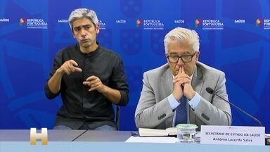 Secretário de Saúde se emociona ao falar que país não registrou mortes por Covid - Portugal não teve registros de mortes pela primeira vez desde 15 de março.