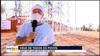 Campanha arrecada doações para conclusão da Cruz de Todos os Povos em Divinópolis - Nova etapa da construção deve começar ainda neste ano. Uma réplica da cruz será sorteada entre os contribuintes