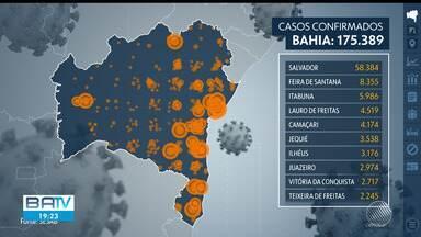 Bahia tem mais de 175 mil casos registrados do novo coronavírus, de acordo com a Sesab - Confira dados atualizados da pandemia em todo estado, divulgados nesta terça-feira (4).