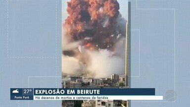Há dezenas de mortos e centenas de feridos em explosão em Beirute - Há dezenas de mortos e centenas de feridos em explosão em Beirute