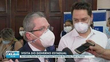 Secretários estaduais visitam Franca e Ribeirão Preto para acompanhar evolução da pandemia - Marco Vinholi, do Desenvolvimento Regional, e Jean Gorinchteyn, da Saúde, estiveram nos hospitais.