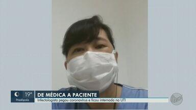 De médica a paciente: Infectologista pega coronavírus, fica internada e é curada - Ângela Ginbo viveu na pele o drama dos pacientes.