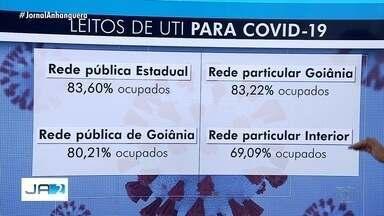 Veja como está a ocupação de leitos de UTI em Goiás - Cerca de 83% dos leitos estão ocupados.