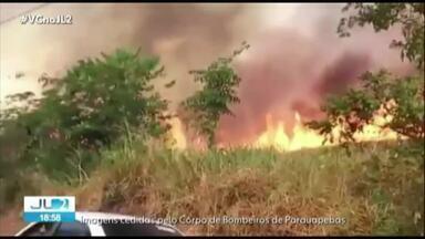 Incêndios aumentam mais de 100% em Parauapebas - Corpo de Bombeiros está com problemas nos equipamentos de combate ao fogo.