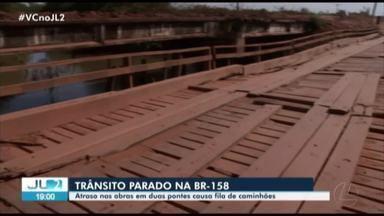BR-158 continua interditada, enquanto pontes são reformadas no PA - Trânsito de caminhões está interrompido desde a última sexta.