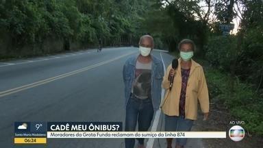 Moradores da Grota Funda reclamam do sumiço da linha 874 - Única linha de ônibus da região desapareceu durante a pandemia