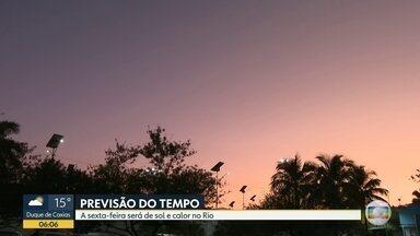 Previsão do tempo para esta sexta-feira (7) - Sexta-feira de sol e calor no Rio; temperatura máxima de 29 graus