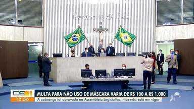 Multa por não uso de máscara varia entre R$ 100 a R$ 1.100 no Ceará - Saiba mais em g1.com.br/ce