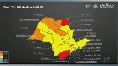 Ribeirão Preto avança à fase amarela do Plano São Paulo - Barretos segue na fase laranja e Franca permanece na etapa vermelha.